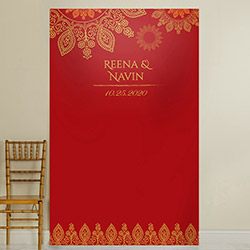 Personalized Photo Backdrop - Indian Jewel